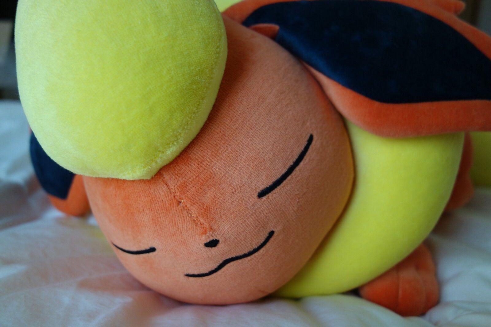 Flareon eeVee Pokemon Center Ltd Suyasuya Sleeping Flareon Plush   Pikachu Towel