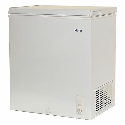 Haier Chest Deep Freezer 5.0 cu ft Small Size Compact Dorm Apartment, White NEW!