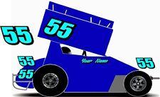 Micro Sprint Car Racing Decal Sticker Number Kit
