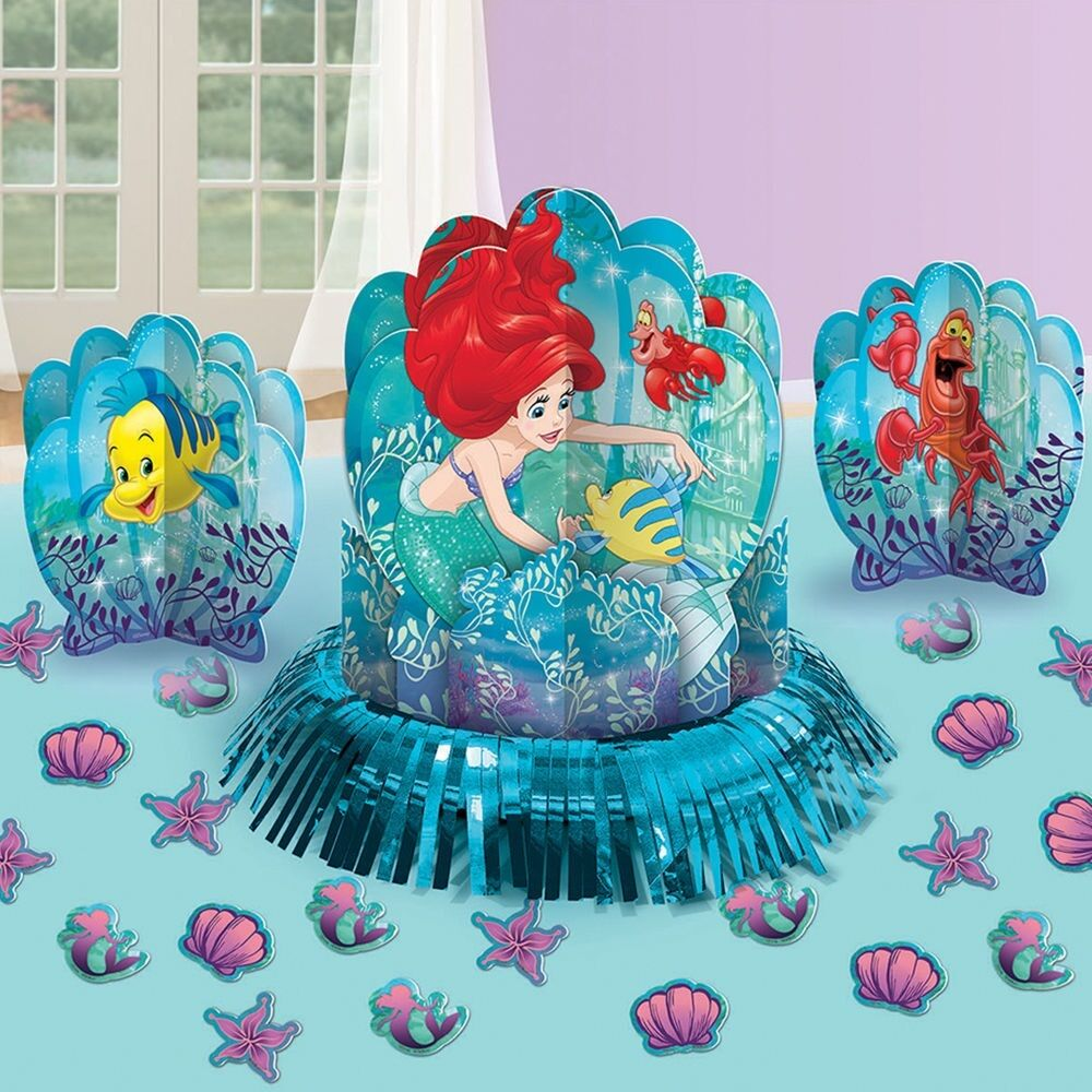 Disney Little Mermaid Table Decorating Set Kit Birthday Party Favors ...