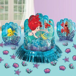 Disney Little Mermaid Table Decorating Set Kit Birthday Party Favors ...