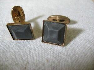 DARK-GRAY-Insert-Old-Vintage-Men-039-s-Cufflinks