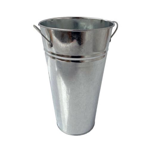 Da Giardino in Metallo Zincato Zinco Fiore Erba Seme Pot alto FIORIERA VASCA SECCHIO VASO