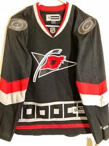the best attitude fa363 87de0 Details about Reebok Women's Premier NHL Jersey Carolina Hurricanes Team  Black sz S