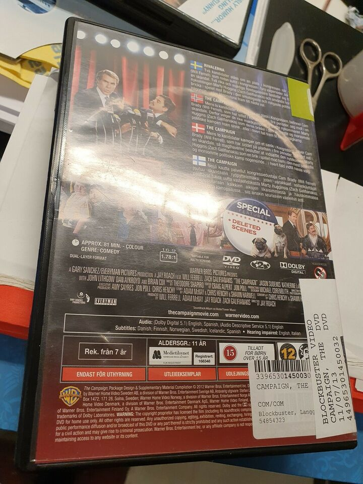 The Campaign, DVD, komedie