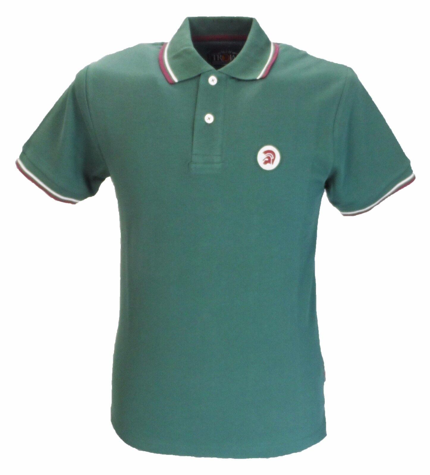 Trojan Grün Classic Retro Stripe Rib Polo Shirt  | Verkauf Online-Shop  | Ausgezeichnet (in) Qualität  | Mama kaufte ein bequemes, Baby ist glücklich