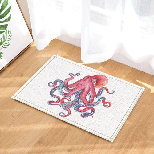 Colored Octopus Decor Non-Slip Floor Outdoor Indoor Front Door Mat bathroom