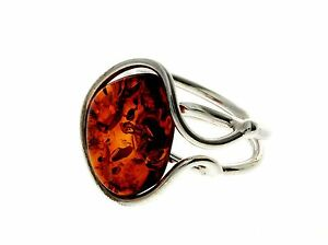 CERTIFIED-UNIQUE-BALTIC-AMBER-amp-925-STERLING-SILVER-RING-RG0589