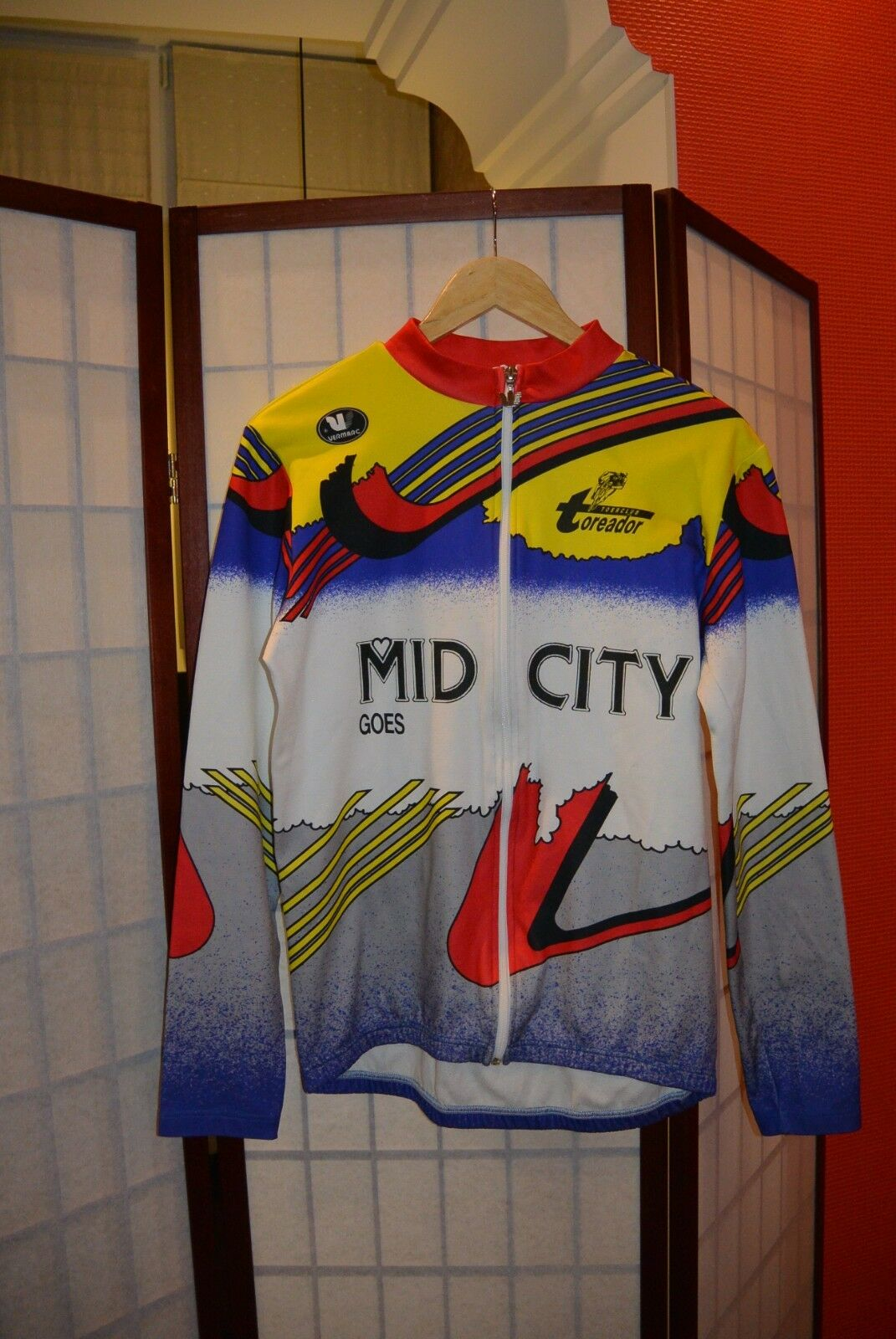 Toreador Vermarc Mid city cycling jersey long sleeve full zip