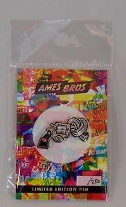 AMES-BROS-Ltd-of-250-Enamel-PIN-Lapel-Pearl-Jam-concert-Poster-art-KNOT-GUN-nra