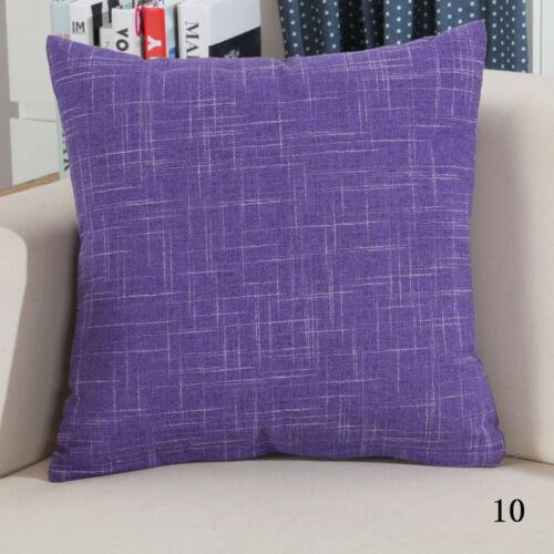"""Vintage Plain Decorative Cotton Line Throw Pilow Case Cushion Cover 18X18/""""//22X22"""
