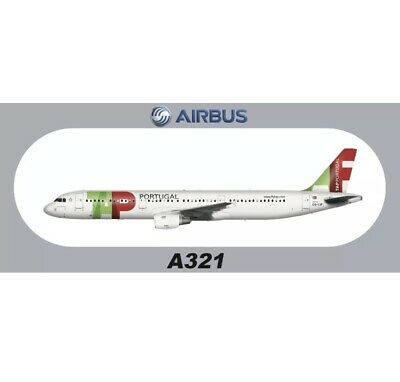 """1 PC 7.87""""*3.46"""" American Airlines AIRBUS A321 Sticker About 20*8.8CM"""