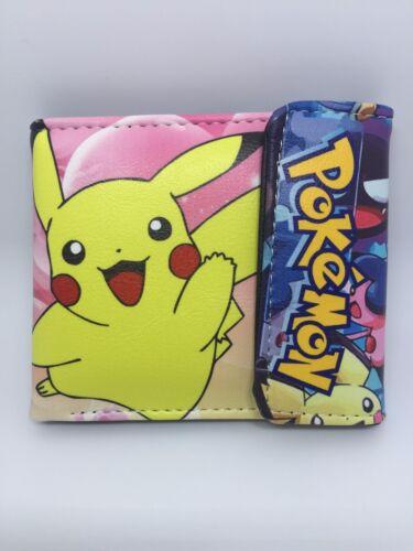 Pokemon Pikachu boy/&girl cute wallet PU Leather Purses Full Color WALLET gift