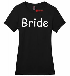 Bride-Ladies-T-Shirt-Cute-Wedding-Gift-Tee-Bachelorette-Party-Shirt-Love-Tee-Z4