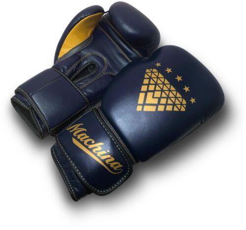 DARK BLUE//YELLOW Machina Matadora 16oz Womens Leather Sparring Gloves