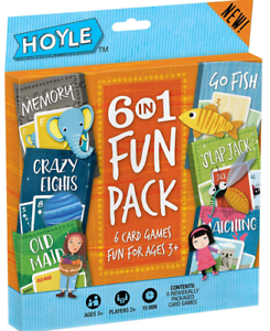 Card Games for Kids,6 in 1 Fun Pack,Happy with Kids
