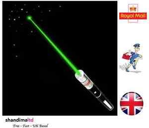 Powerful-High-Power-Green-Laser-Pointer-Pen-1MW-Lazer-Beam-UK-Seller