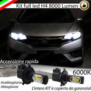 Kit Full Led Honda Jazz 4 Iv Lampade Led H4 6000k Bianco Ghiaccio No