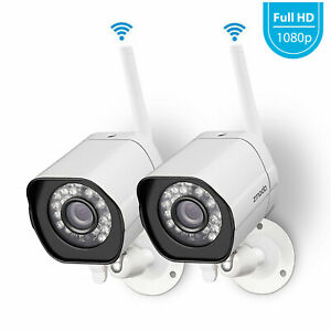 Zmodo 2-Pack 1080P Wireless Indoor/Outdoor Alert WiFi Security Camera IR Night