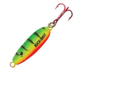 Northland Tackle BRUVS3-22 UV Buck Shot Rattle Spoon Firetiger 1//8 oz Lure