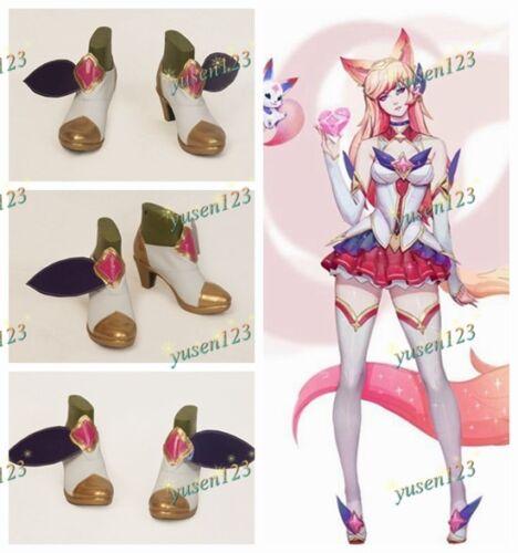League of Legends Star Guardian Ahri Nine-Tailed Fox Cosplay Shoes Custom Made