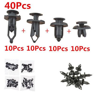 40Pcs Car POM Push Retainer Pin Body Bumper Rivet Trim Moulding Clip Durable