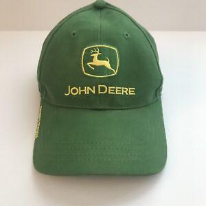 John Deere Hat One Size Strapback Green Yellow Owners Edition Baseball Cap