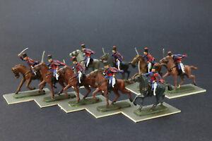 1 / 72ème série peinte de 9 dragons légers britanniques / italiens / italiens 2 cavalerie