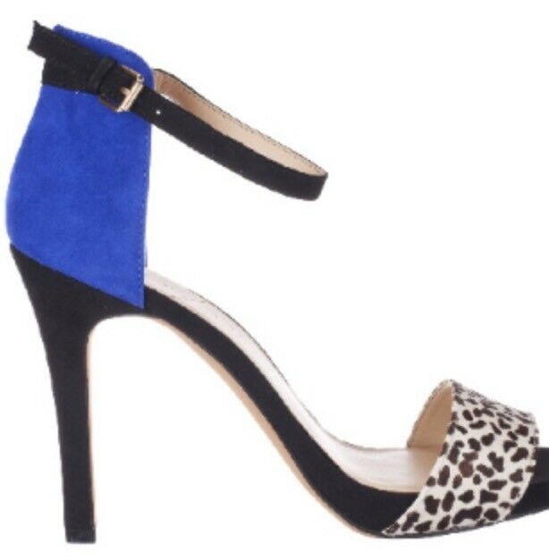 Sole Society Leather Farbe Block Open-toe Pumps w  Ankle Strap Sheila Sz. 5 1 2