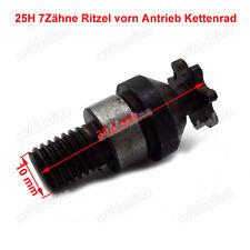 25H 7Zähne Ritzel vorn Antrieb Kettenrad für 47 49cc Pocketbike Pocketquad