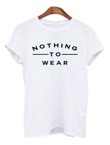 Womens Short Sleeve Gold Foil Vouge Slogan Printed Casual T Shirt Top 8-14