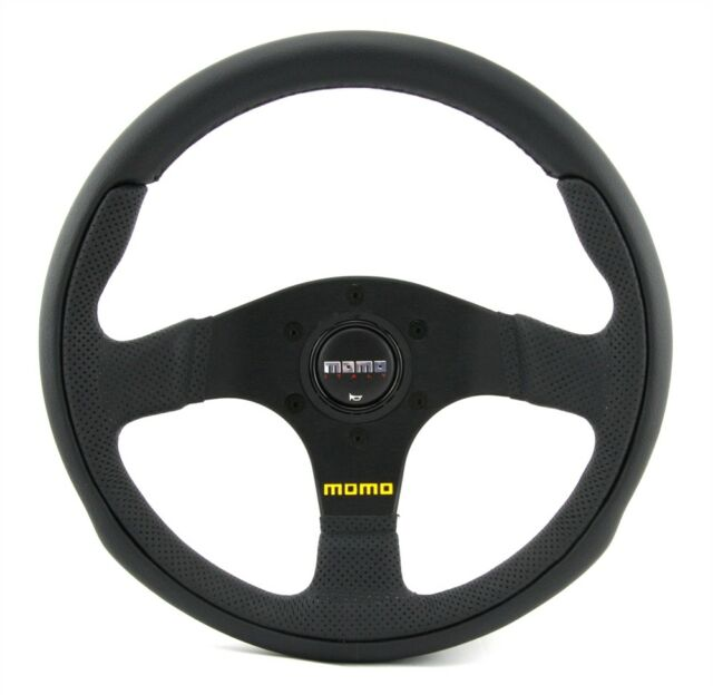 Momo Leder Sportlenkrad Team 30 300mm schwarz black steering wheel volante
