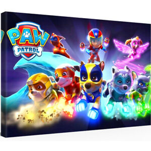 Leinwandbild 30 x 20 PAW PATROL MIGHTY PUPS Spielzeug Figuren Set DVD (0807204)