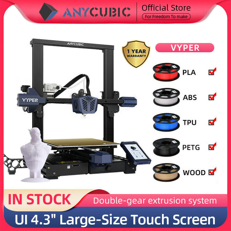 ANYCUBIC VYPER 3D PRINTER 245*245*260mm with AUTO LEVELING UI 4,3