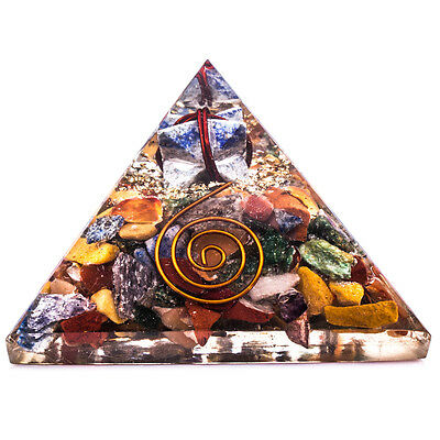 Multi-Stone Reiki Orgone Pyramid Orgonite Healing Crystal Energy Gemstones