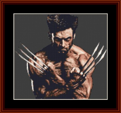 X MEN WOLVERINE di Hugh Jackman Punto Croce Kit