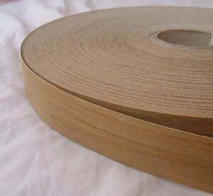 Teak Iron On Edging Pre Glued Real Wood Veneer Tape 22mm