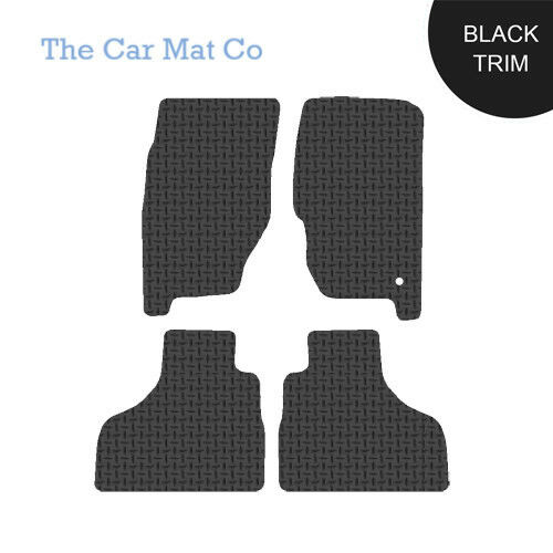 Jeep Grand Cherokee WK 2005-2010 Fully Tailored Black Rubber Car Mats