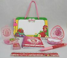 Strawberry Shortcake Set of Notebook, Memo Board, Pencil, Erasers & Ruler, New
