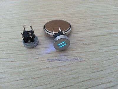 5pcs Blue Led Dia 10mm Cap EQUAL = 12V Momentary Tact Push Button Switch