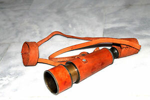 18-inch-VINTAGE-NAUTICAL-MARINE-SPYGLASS-BRASS-TELESCOPE-With-LEATHER-CASE-Gift
