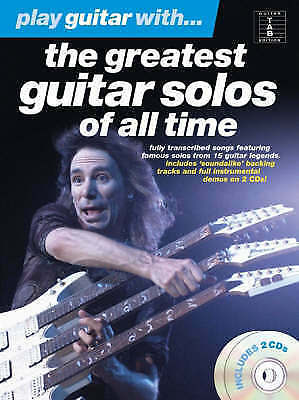 Play Guitar With The Greatest Guitar Solos Of All Time Tab Book & 1 CD Only S51
