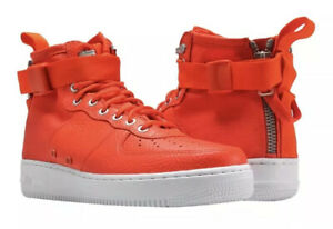Details about New Nike SF 1 Mid Team Orange White Special Field Air Force AF1 917753 800 9.5