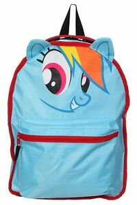 cute nwt my little pony rainbow dash derpy reversible backpack book