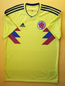 936274258 5+/5 Colombia soccer jersey medium 2018 home shirt CW1526 Adidas ...