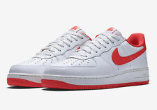 NIKE AIR FORCE 1 LOW RETRO SZ 10.5 SUMMIT WHITE UNIVERSITY RED 845053-100