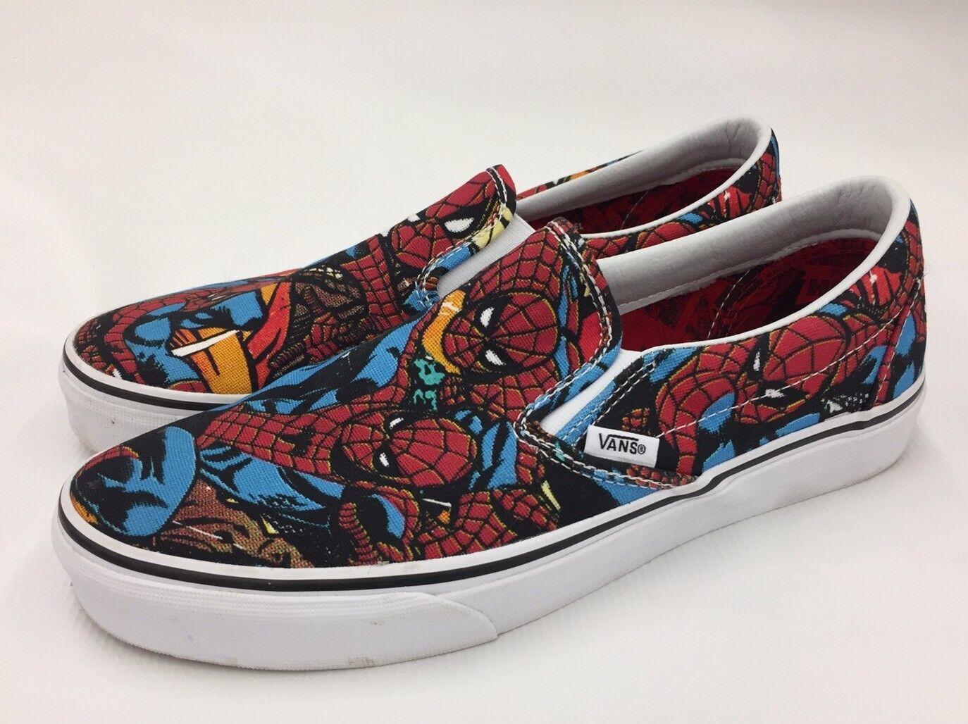 Vans Slip On Chaussures Marvel Spider-Man Homme 9.5 Clean