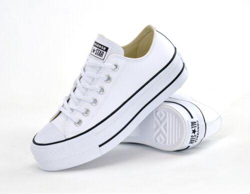 Ctas brand Sneakers donna Lift Clean Ox Converse Platform Lthr New 561680c Bwqd4nHzx