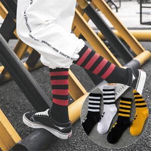 Winter-Warm-Street-Skate-Hip-hop-Cotton-Short-Socks-Skateboard-Hosiery-Stripe