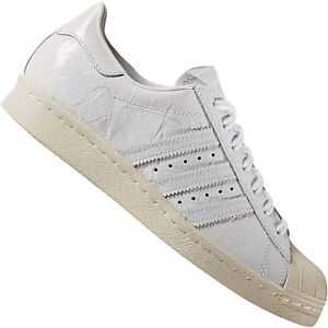 Adidas Originals Superstar Baskets Femmes-Sneaker Blanc Cuir verni Chaussures Neuf